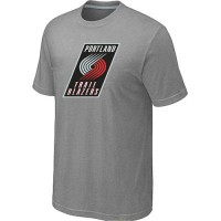 NBA Portland Trail Blazers Big & Tall Primary Logo T-Shirt Light Grey