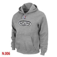 NBA San Antonio Spurs Pullover Hoodie Light Grey