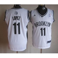 Nets #11 Brook Lopez White Home Stitched NBA Jersey