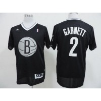 Nets #2 Kevin Garnett Black 2013 Christmas Day Swingman Stitched NBA Jersey