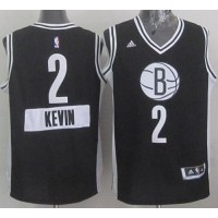 Nets #2 Kevin Garnett Black 2014-15 Christmas Day Stitched NBA Jersey