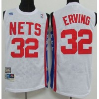 Nets #32 Julius Erving White ABA Retro Swingman Throwback Stitched NBA Jersey