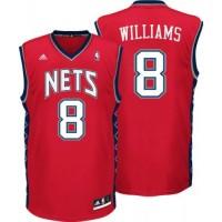 Nets #8 Deron Williams Red Revolution 30 Stitched NBA Jersey