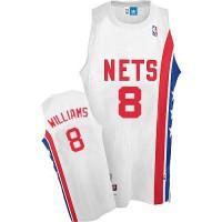 Nets #8 Deron Williams White ABA Hardwood Classic Stitched NBA Jersey