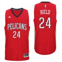 New Orleans Pelicans #24 Buddy Heild Alternate Red New Swingman Jersey