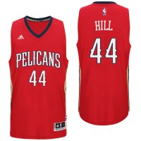New Orleans Pelicans #44 Solomon Hill Alternate Red New Swingman Jersey