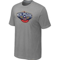 New Orleans Pelicans Big & Tall Primary Logo T-Shirt Light Grey