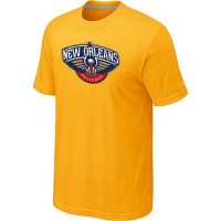 New Orleans Pelicans Big & Tall Primary Logo T-Shirt Yellow