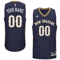 New Orleans Pelicans Blue Men's Customized New Rev 30 Jersey