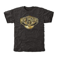 New Orleans Pelicans Gold Collection Tri-Blend T-Shirt Black
