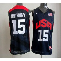 Nike 2012 Olympics Team USA #15 Carmelo Anthony Dark Blue Stitched NBA Jersey