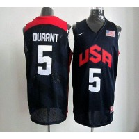 Nike 2012 Olympics Team USA #5 Kevin Durant Dark Blue Stitched NBA Jersey