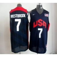 Nike 2012 Olympics Team USA #7 Russell Westbrook Dark Blue Stitched NBA Jersey