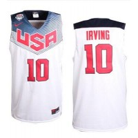 Nike 2014 Team USA #10 Kyrie Irving White Stitched NBA Jersey