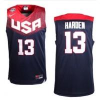 Nike 2014 Team USA #13 James Harden Dark Blue Stitched NBA Jersey