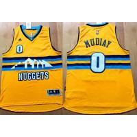 Nuggets #0 Emmanuel Mudiay Yellow Alternate Stitched NBA Jersey