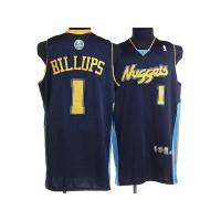 Nuggets #1 Chauncey Billups Stitched Dark Blue NBA Jersey