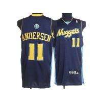 Nuggets #11 Chris Andersen Stitched Dark Blue NBA Jersey