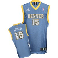 Nuggets #15 Carmelo Anthony Stitched Baby Blue Youth NBA Jersey