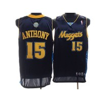 Nuggets #15 Carmelo Anthony Stitched Dark Blue NBA Jersey