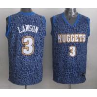 Nuggets #3 Ty Lawson Dark Blue Crazy Light Stitched NBA Jersey