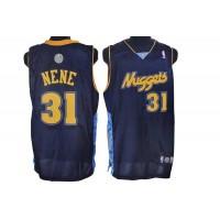 Nuggets #31 Nene Hilario Stitched Dark Blue NBA Jersey