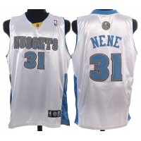 Nuggets #31 Nene Hilario Stitched White NBA Jersey