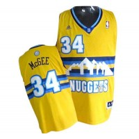 Nuggets #34 JaVale McGee Yellow Alternate Stitched NBA Jersey