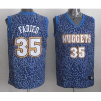 Nuggets #35 Kenneth Faried Dark Blue Crazy Light Stitched NBA Jersey