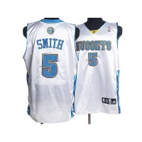 Nuggets #5 J. R. Smith Stitched White NBA Jersey
