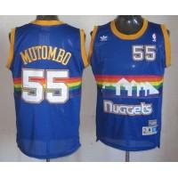Nuggets #55 Dikembe Mutombo Light Blue Throwback Stitched NBA Jersey