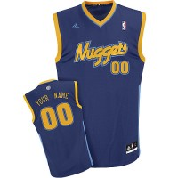 Nuggets Personalized Authentic Dark Blue NBA Jersey (S-3XL)