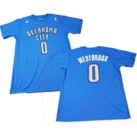 Oklahoma City Thunder #0 Russell Westbrook Blue NBA T-Shirts
