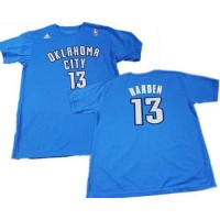 Oklahoma City Thunder #13 James Harden Blue NBA T-Shirts