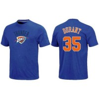 Oklahoma City Thunder #35 Kevin Durant Name and Number NBA T-Shirt Royal Blue
