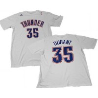 Oklahoma City Thunder #35 Kevin Durant White NBA T-Shirts