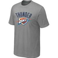 Oklahoma City Thunder Big & Tall Primary Logo Grey NBA T-Shirts