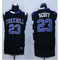 One Tree Hill Ravens #23 Nathan Scott Black Stitched Basketball Jersey