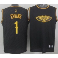 Pelicans #1 Tyreke Evans Black Precious Metals Fashion Stitched NBA Jersey