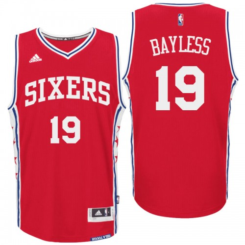 c3e2568a9 philadelphia 76ers 19 jerryd bayless alternate red new swingman jersey