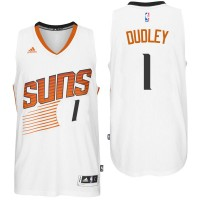 Phoenix Suns #1 Jared Dudley Home White New Swingman Jersey