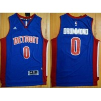 Pistons #0 Andre Drummond Blue Stitched NBA Jersey