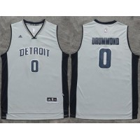 Pistons #0 Andre Drummond Gray Stitched NBA Jersey