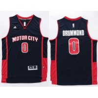 Pistons #0 Andre Drummond Navy Stitched NBA Jersey