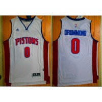 Pistons #0 Andre Drummond White Stitched NBA Jersey