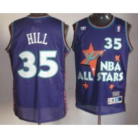 Pistons #35 Grant Hill Purple 1995 All Star Throwback Stitched NBA Jersey