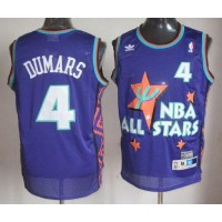 Pistons #4 Joe Dumars Purple 1995 All Star Throwback Stitched NBA Jersey