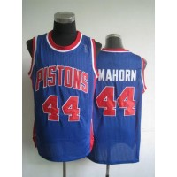 Pistons #44 Rick Mahorn Blue Throwback Stitched NBA Jersey