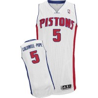 Pistons #5 Kentavious Caldwell-Pope White Stitched NBA Jersey