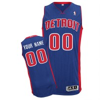 Pistons Personalized Authentic Blue NBA Jersey (S-3XL)